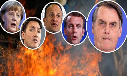 Alemanha, Canadá e Irlanda unem-se à França contra Bolsonaro