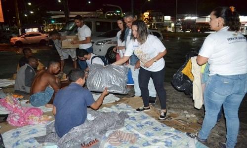 Ação da Prefeitura ameniza dor e frio de quem vive nas ruas