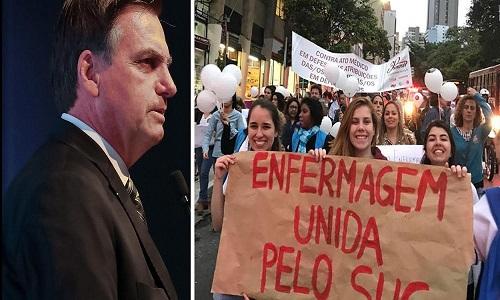 Enfermeiros reagem às agressões de Bolsonaro