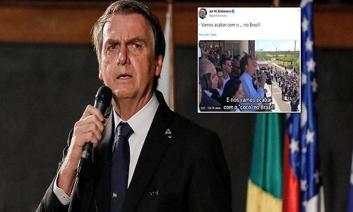 """Bolsonaro quebra decoro novamente e posta vídeo sobre seu plano para """"acabar com o cocô"""" no Brasil"""