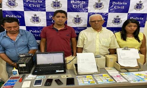 Grupo é preso na Bahia após tentar fraudar bingo