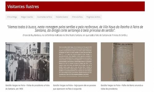 Memorial publica foto da primeira visita de Getúlio Vargas a Feira