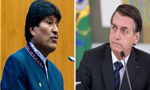 Bolsonaro legitima o golpe de estado na Bolívia.