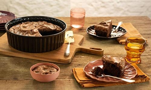 BOLO FUDGE DE CHOCOLATE