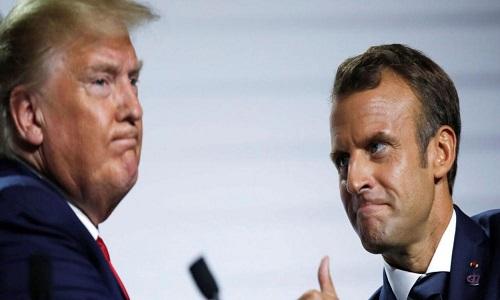 Trump bate boca com Macron sobre 'morte cerebral' da OTAN