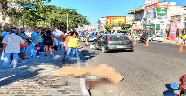 Atropelamento na Avenida Getúlio Vargas mata idoso de 66 anos em Feira de Santana