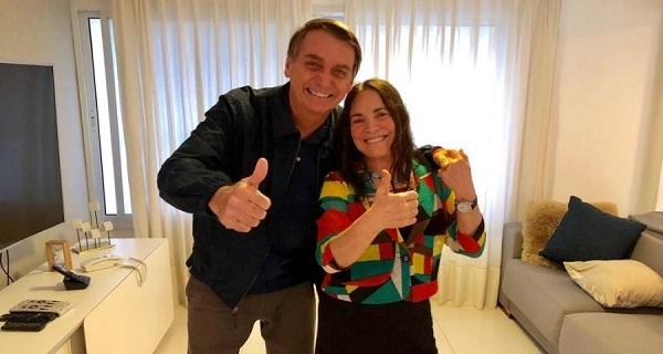 """Regina Duarte vai """"noivar"""" com ministro denunciado por corrupção"""