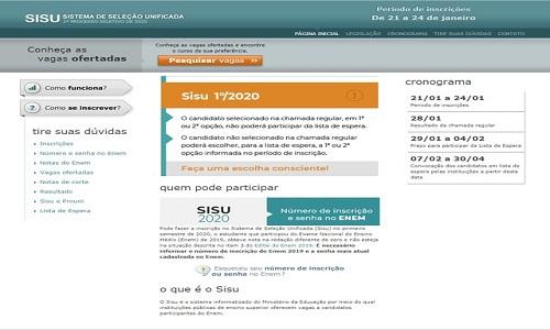 Sisu 2020: veja dicas para inscrição na seleção do primeiro semestre