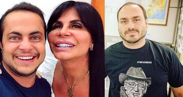 Gretchen diz que vai processar Carlos Bolsonaro por tuíte de foto do parto do neto, filho de Thammy