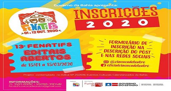 Fenatifs:  inscrições para grupos de teatro de todo Brasil vão até o dia 15 de março
