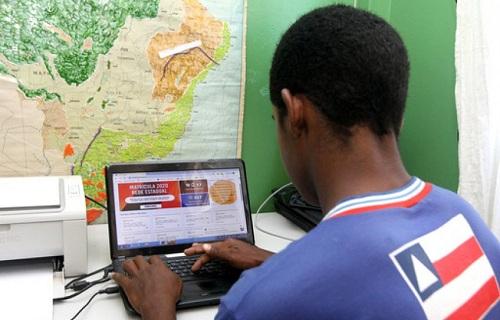 Rede estadual de ensino inicia matrícula digital no dia 20