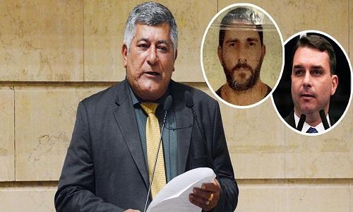 Flávio Bolsonaro visitou Adriano Nóbrega na prisão, diz vereador