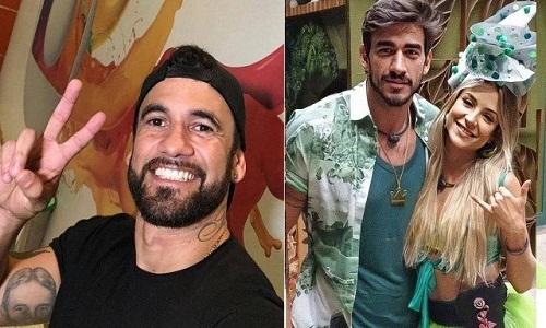 Hadson detona namoro de Guilherme com Gabi: 'Casal fake'.