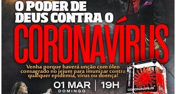 Polícia investiga igreja que teria prometido imunizar fiéis do coronavírus