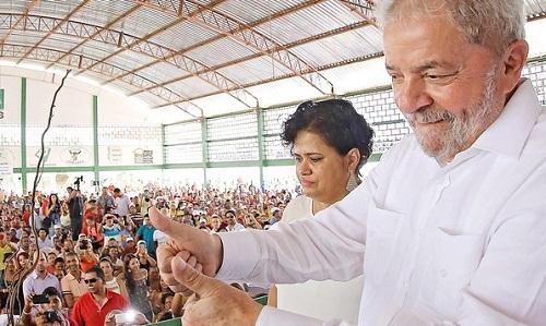 Lula em Valente, sertão da Bahia