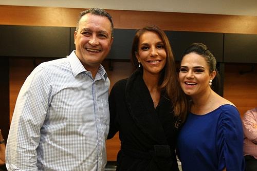 Rui Costa, Ivete Sangalo e Carol Garcia